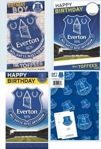 Official EVERTON FOOTBALL Premiership Birthday Greeting Card Goodison Gift Wrap