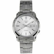Seiko 5 Automatic White Dial Silver Steel 38mm SNKK65K1 Men's Watch RRP £169