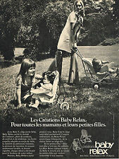 PUBLICITE  1971   BABY RELAX  les créations