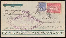 ZEPPELIN FLIGHT COVER BRAZIL TO GERMANY ROUND FLIGHT #59B 5/24/1930 BQ4880