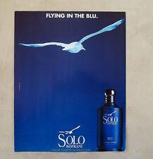 E651 - Advertising Pubblicità -1997- SOLO SOPRANI EAU DE TOILETTE UOMO DONNA