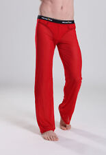 Pantalon interieur taille L rouge transparent  Manview by NEOFAN sheer Ref M02