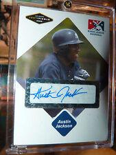 2005 Just Minors AUSTIN JACKSON Autograph Baseball Card Mint Auto Chicago CUBS !