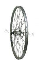 "26"" Rigida X Star MTB Mountain Bike Quando Disc Hub CNC SILVER Rim FRONT Wheel"
