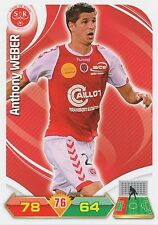 ANTHONY WEBER STADE REIMS TRADING CARDS ADRENALYN PANINI FOOT 2013
