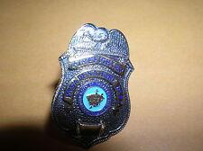 PASADENA CA FIREFIGHTER Fireman Fire Dept Mini Silver Badge PIN Tie Tac EAGLE