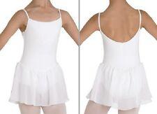 NWT Dance Bloch White Camisole Skirted Leotard Dress Girls 4/6 CL3977