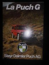 Prospekt Sales Brochure La Puch G Geländewagen Daimler Technische Daten Auto Car