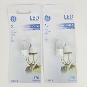 Lot of 2 GE T5 LED Landscape Bulb 2w 170 Lumens 12v Warm White