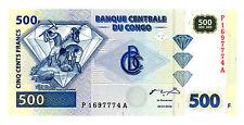Congo Democratic Rep … P-96 … 500 Francs … 2002 … *UNC*