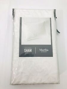 Martha Stewart Collection 100% Cotton Castle Matelassé Standard Sham White