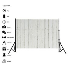 White Wooden Plank Photography Background Studio Backdrop Props 7x5ft