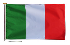 More details for italy flag with rope and toggle - various sizes