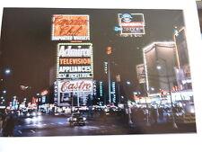 1963 Neon Signs Castro Times Square New York City Color Photo 8 x 10