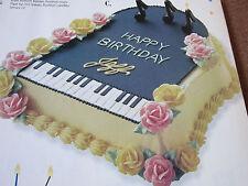 Cake Decorating Piano, Fishing Tigger,Cheerleader Minnie Mouse, Wedding Castle