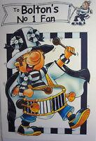 English Football Colourful No.1 Fan Man Boys Birthday Card & Env. Over 20 Clubs!