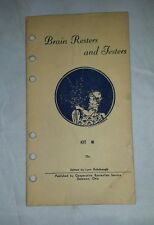 Vintage Brain Teaser: Resters and Testers, Handy Series Kit M Booklet
