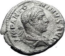 ELAGABALUS  220AD Rome Rare Genuine Authentic Silver Roman Coin JUPITER i60481