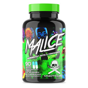 CHAOTIC LABZ MALICE (BEST EXTREME FAT BURNER) IS STRONG WEIGHT LOSS + ENERGY
