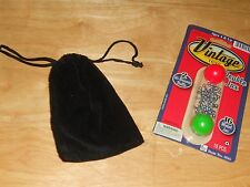 Vintage Toys Double Jax 16 Metal Jacks + 2 Hi-Bounce Balls Game + Blk Velvet Bag