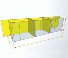 More details for glass office wall with installation