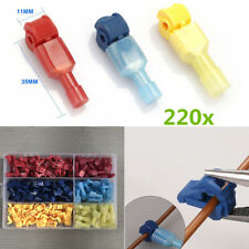220x Self-Tapping Wire Connector Quick Cable Butt Tap Insulated Female Terminal
