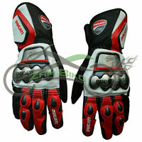 Ducati Corse MotoGp Leather Motorbike Leather Gloves Motorcycle Gloves