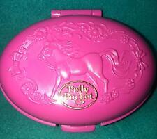 Polly Pocket Palomino Pony COMPLETE Playset dolls 1995 Bluebird Vintage horse
