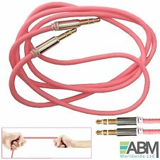 1m 3.5mm Mini STEREO Jack to Jack Male Aux Cable Audio Auxiliary Lead PC Car