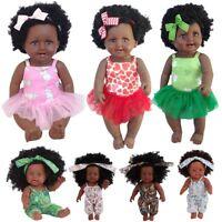 50CM Black Girl Dolls African American Play Dolls Lifelike 50cm Baby Play Doll