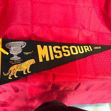 Vintage 1966 Missouri Tigers Football Sugar Bowl Pennant Excellent Condition!!