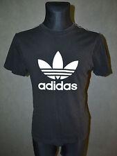 vintage rétro années 90 ADIDAS trefoil T-shirt haut noir taille S PETIT
