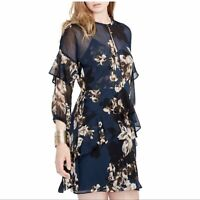 NWT Rachel Roy Floral Print Ruffled Dress. Size 10.