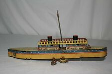 Early Made in Germany Windup Boat, Original