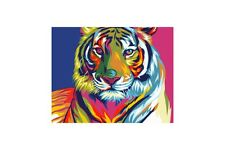 Vernice da numeri KIT RAINBOW TIGER