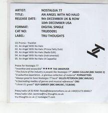 (ER914) Nostalgia 77, An Angel With No Halo - 2013 DJ CD
