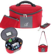 Kosmetikkoffer Beautycase Damen Kulturtasche Reise Gepäck Koffer 535 Rot Grau