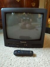 """Retro gaming TV! 13"""" Panasonic CT-13R17B CRT Color, front AV, WITH REMOTE, WORKS"""