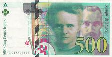 BILLET BANQUE 500 Frs pierre et marie CURIE 1994 SUP 129
