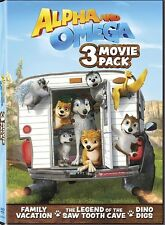 ALPHA AND OMEGA 3 MOVIE PACK New DVD Family Vacation Dino Digs Saw Tooth Cave
