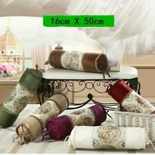 Bolster Round Cylinder Embroidery Flower Long Cushion Throw Pillow Adorn 16X50cm