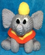KNITTING PATTERN - Dumbo inspired chocolate orange cover / 18 cms Elephant toy