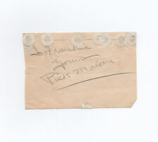 comedian PICK MALONE autograph vaudeville radio OTR Pick and Pat Padgett SIGNED