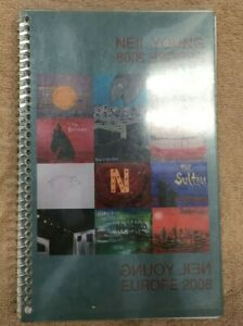 Neil Young - 2008 European Tour Itinerary Book