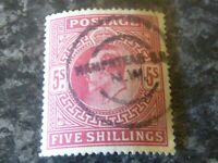 GB POSTAGE STAMP SG263/4 FIVE SHILLINGS CARMINE VERY-FINE USED