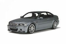 OTTO MOBILE BMW E46 M3 CSL GREY METALLIC M-DESIGN RIMS OT177B 1:18 *New Item!