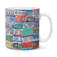 American Licence Plates 10oz Mug Cup - USA Car Number Vintage America