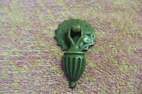 Antique drawer  drop pull vanity hanging dangling brass solid  RARE
