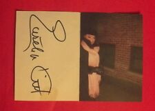 """""""Eartha Kitt"""" signed""""Valentine's Day"""" card! Ultra-Rare w/scanned overlayed photo"""
