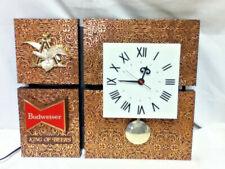 Budweiser beer sign vintage wall clock pendulum motion bar light vintage lighted